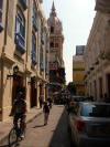 street of old Cartagena